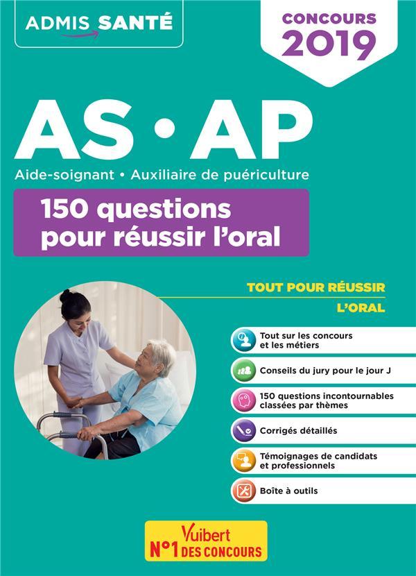 CONCOURS 2019 AS-AP 150 QUESTIONS POUR REUSSIR L'ORAL