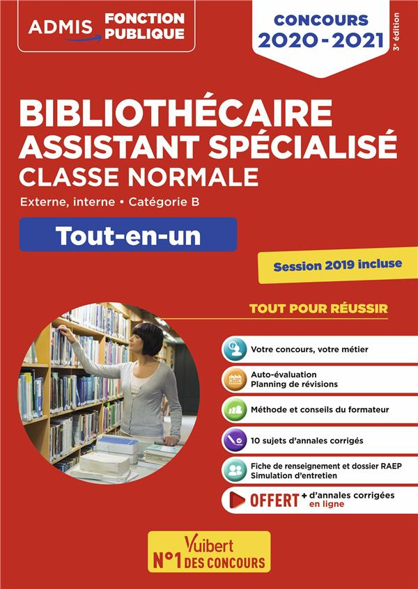 BIBLIOTHECAIRE ASSISTANT SPECIALISE CLASSE NORMALE CONCOURS 2020-2021