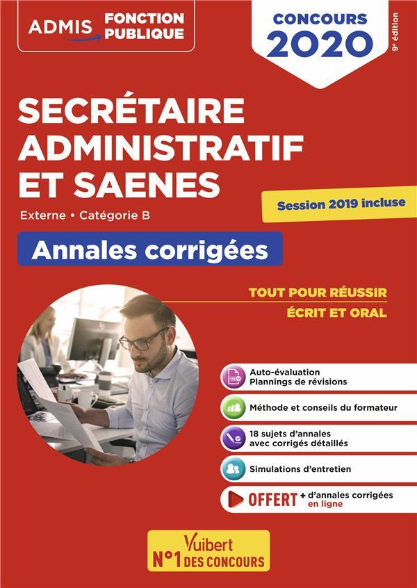 SECRETAIRE ADMINISTRATIF ET SAENES CONCOURS 2020