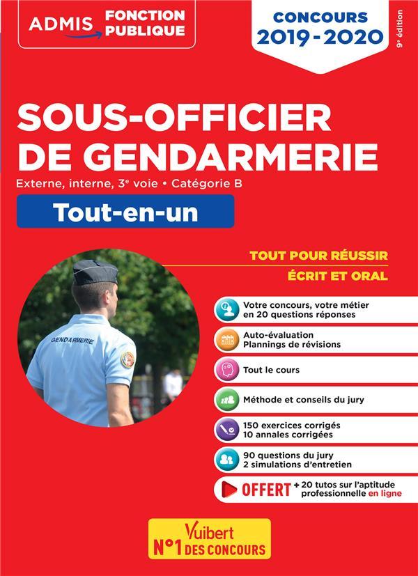 CONCOURS SOUS OFFICIER DE GENDARMERIE 2019-2020 TOUT-EN-UN