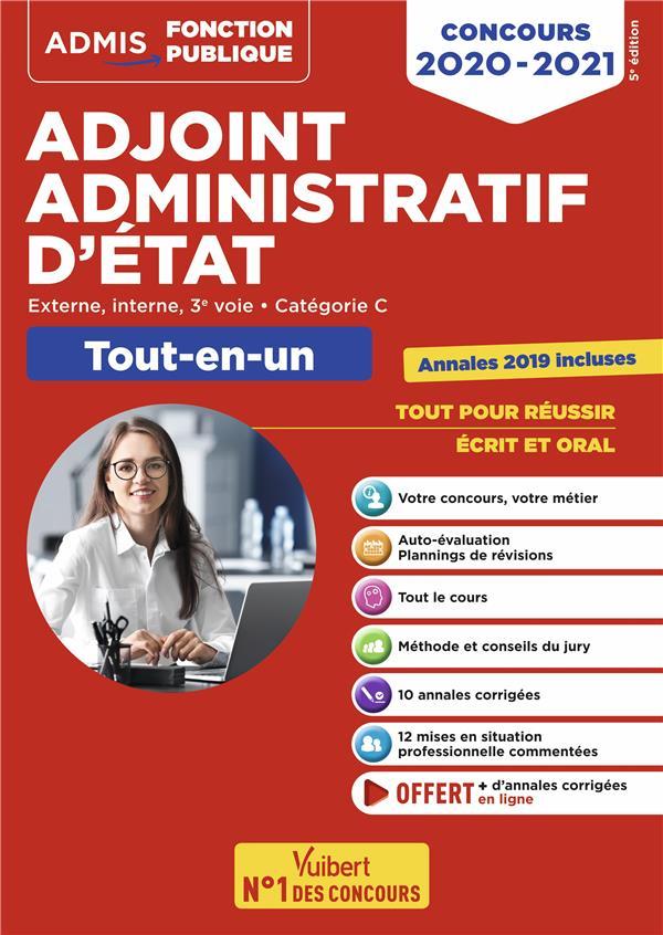 ADJOINT ADMINISTRATIF D'ETAT CONCOURS 2020-2021