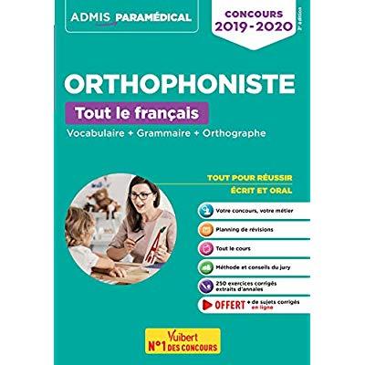 ORTHOPHONISTE CONCOURS 2019-2020 TOUT LE FRANCAIS