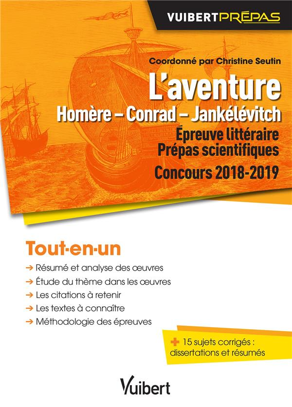 AVENTURE D'HOMERE CONRAD JANKELEVITCH PREPA SCIENTIFIQUE EPREUVE LITTERAIRE