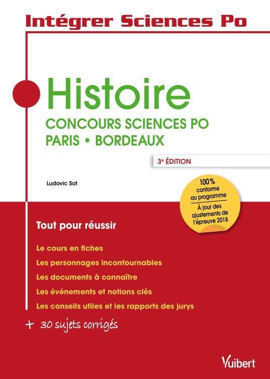 HISTOIRE - CONCOURS SCIENCES PO PARIS - BORDEAUX