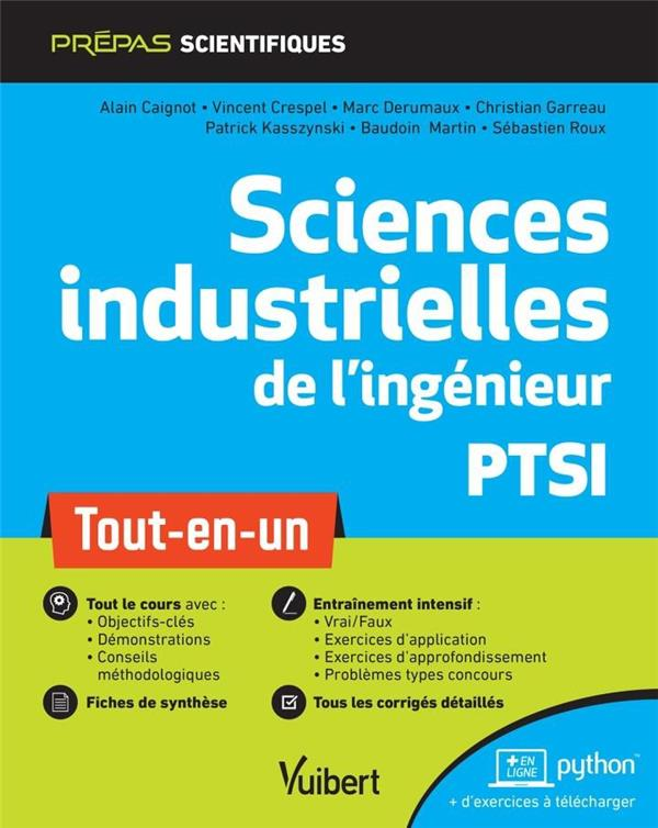 SCIENCES INDUSTRIELLES DE L'INGENIEUR PTSI