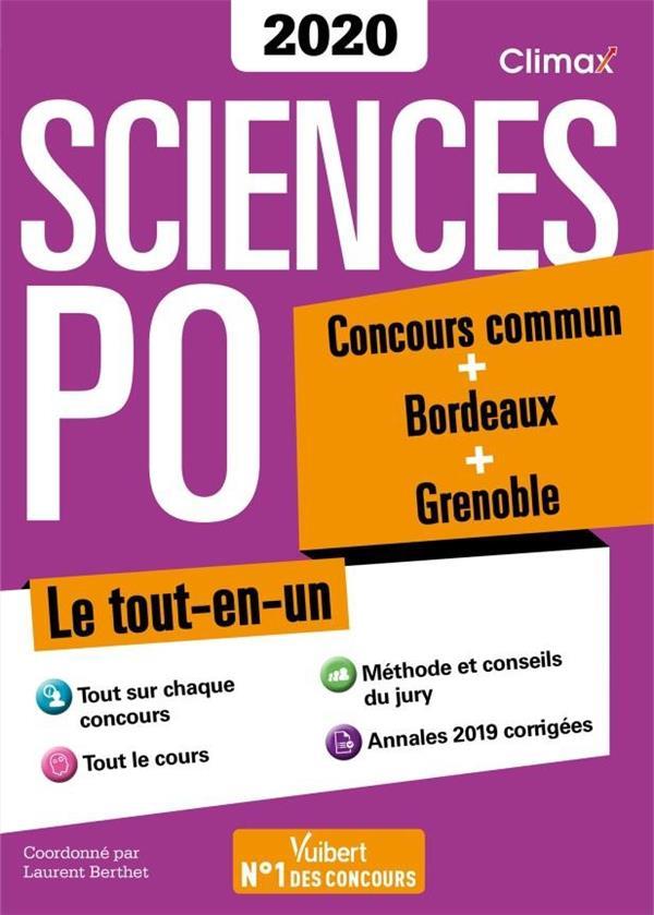 2020 SCIENCES PO CONCOURS COMMUN + GRENOBLE