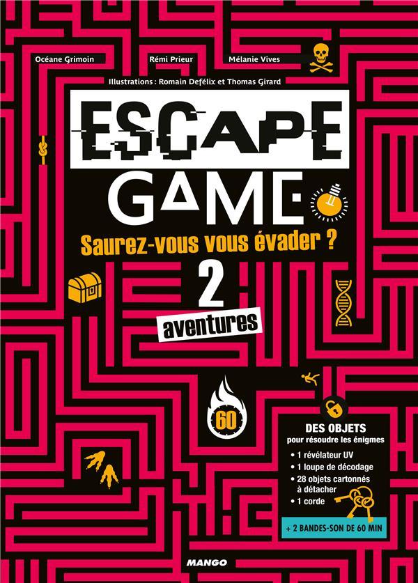 ESCAPE GAME : SAUREZ-VOUS VOUS EVADER DE CES 2 AVENTURES ?