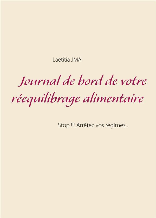 JOURNAL DE BORD DE VOTRE REEQUILIBRAGE ALIMENTAIRE