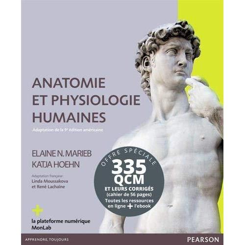 PACK ANATOMIE ET PHYSIOLOGIE HUMAINE 9E + LIVRET DE QCM CORRIGES
