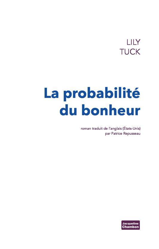 LA PROBABILITE DU BONHEUR