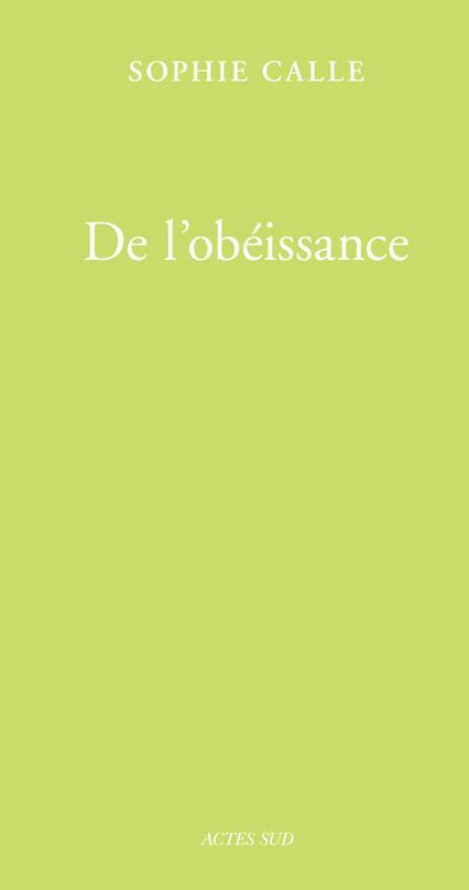 DE L'OBEISSANCE (LIVRE I) - FERMETURE ET BASCULE VERS 9782330128883