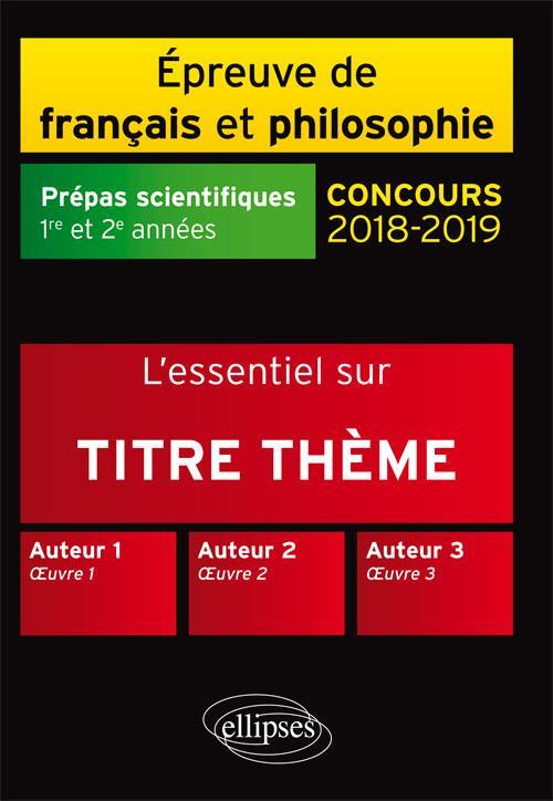 L'ESSENTIEL SUR L'AVENTURE HOMERE CONRAD JANKELEVITCH THEME PREPAS SCIENTIFIQUES 2018-2019
