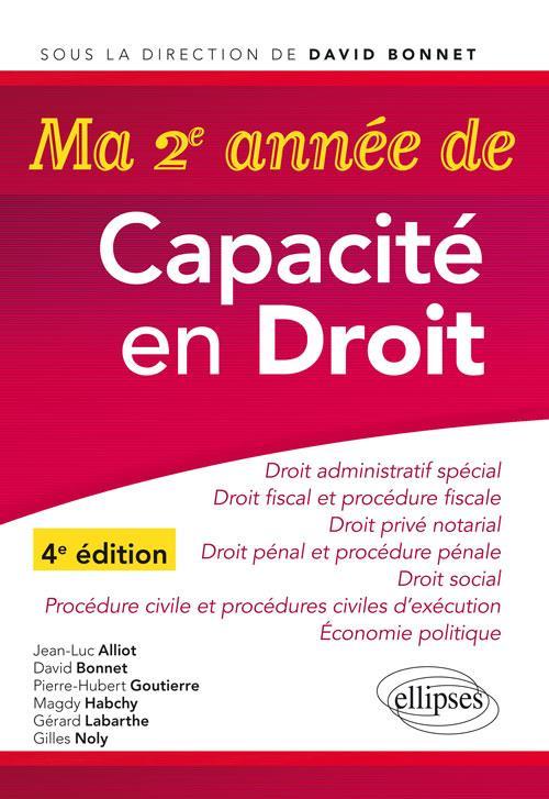 MA DEUXIEME ANNEE DE CAPACITE EN DROIT 4EME EDITION