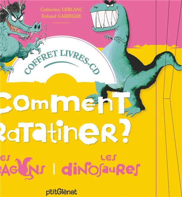 COFFRET COMMENT RATATINER LES DRAGONS ET LES DINOSAURES - LIVRE CD - 2 HISTOIRES + 1 CD