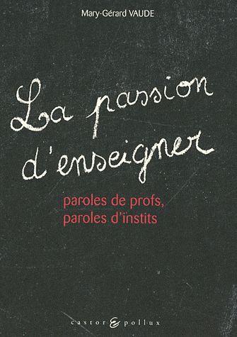 PASSION D'ENSEIGNER