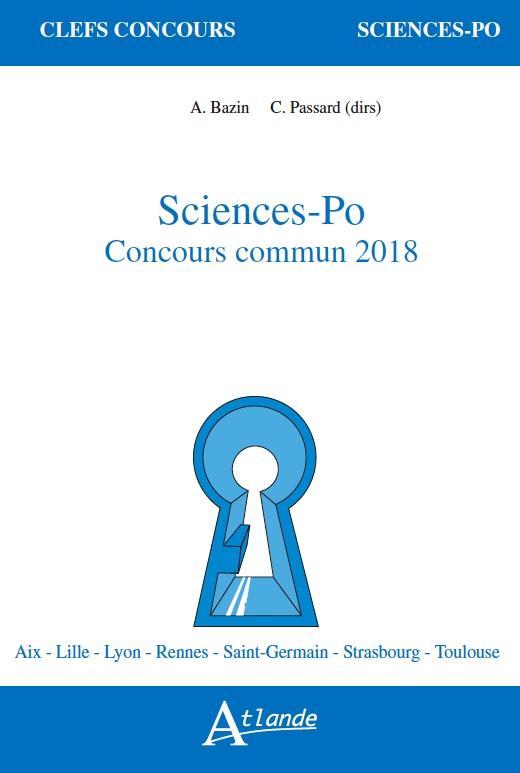 SCIENCES-PO, CONCOURS COMMUN 2018
