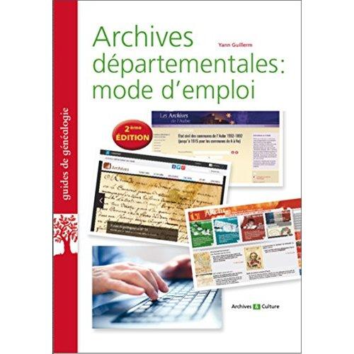 ARCHIVES DEPARTEMENTALES  MODE D EMPLOI