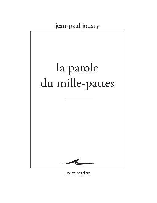 LA PAROLE DU MILLE-PATTES - DIFFICILE DEMOCRATIE