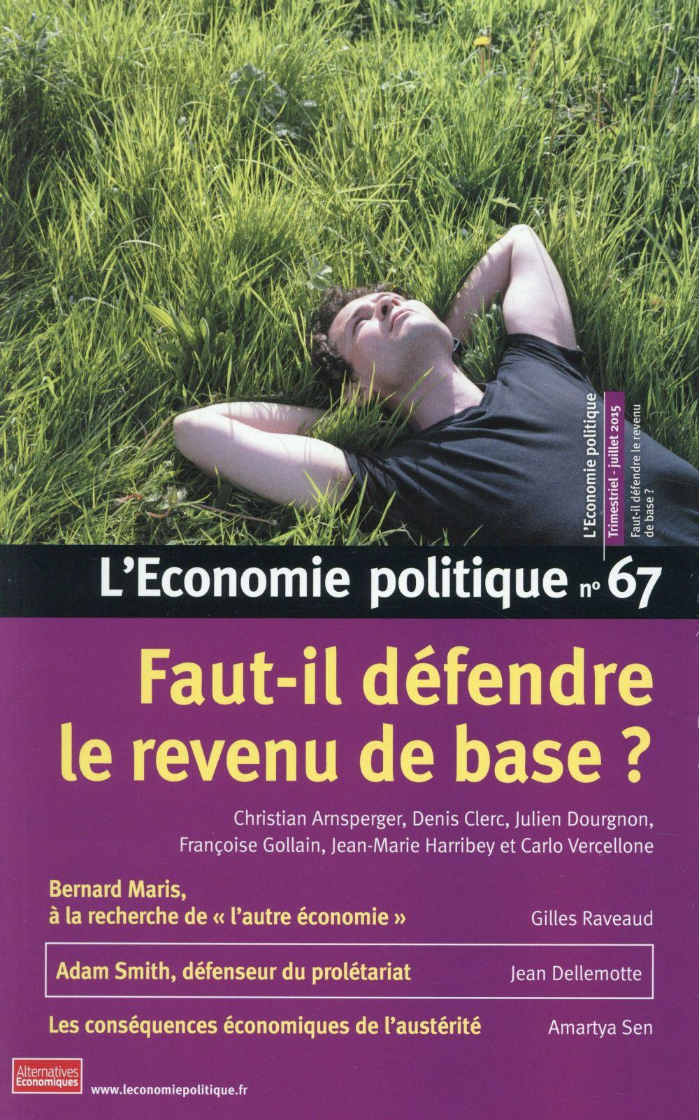 L'ECONOMIE POLITIQUE - NUMERO 67 - REVUE TRIMESTRIELLE