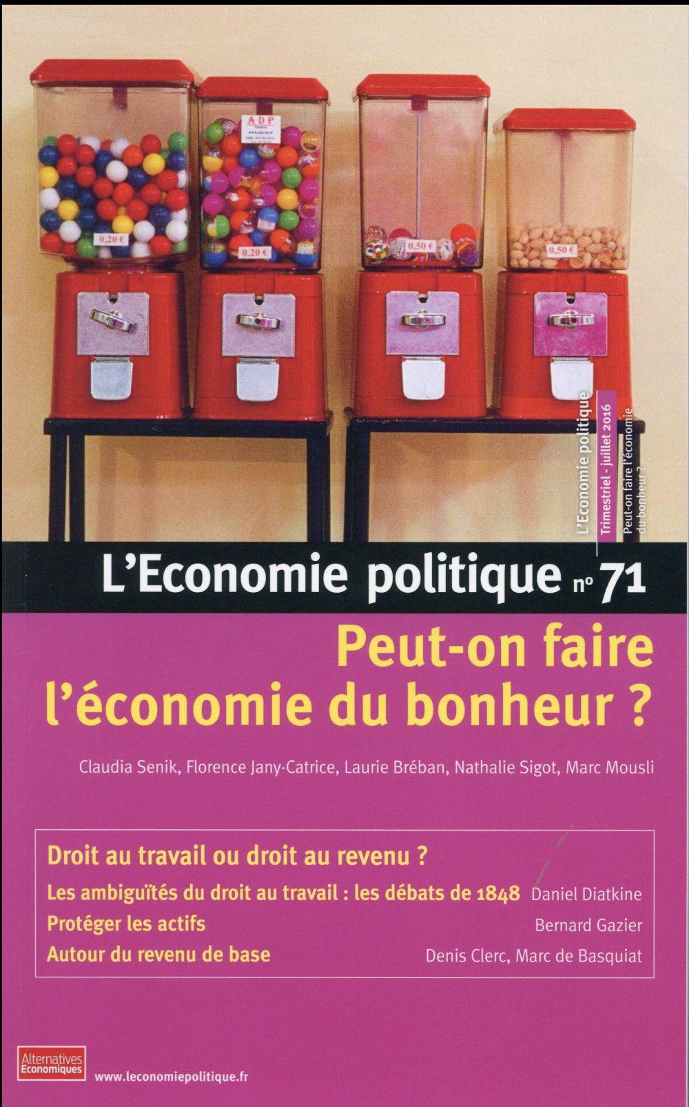 L'ECONOMIE POLITIQUE - NUMERO 71