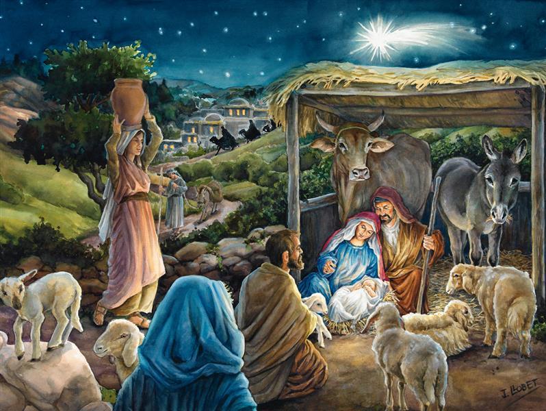 CALENDRIER DE L AVENT JESUS LE SAUVEUR EST NE - LLOBET