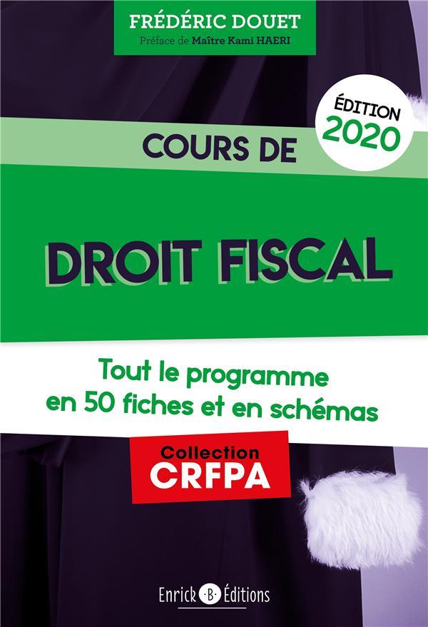 COURS DE DROIT FISCAL 2020