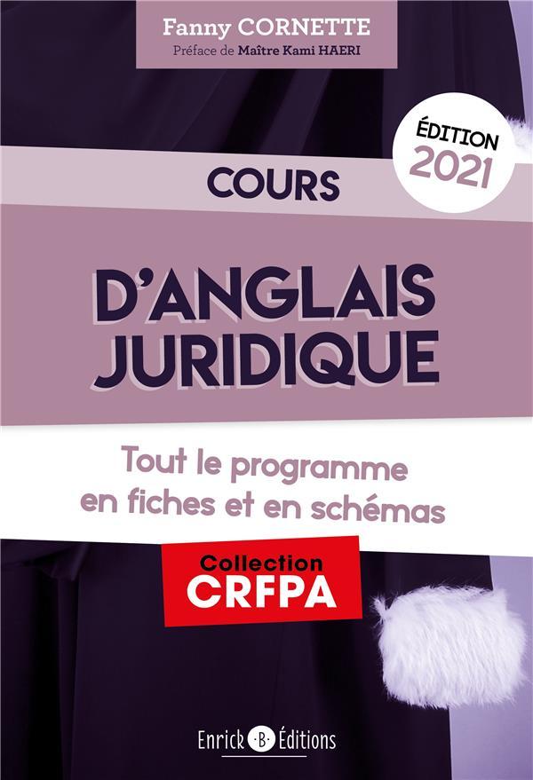COURS D'ANGLAIS JURIDIQUE 2021