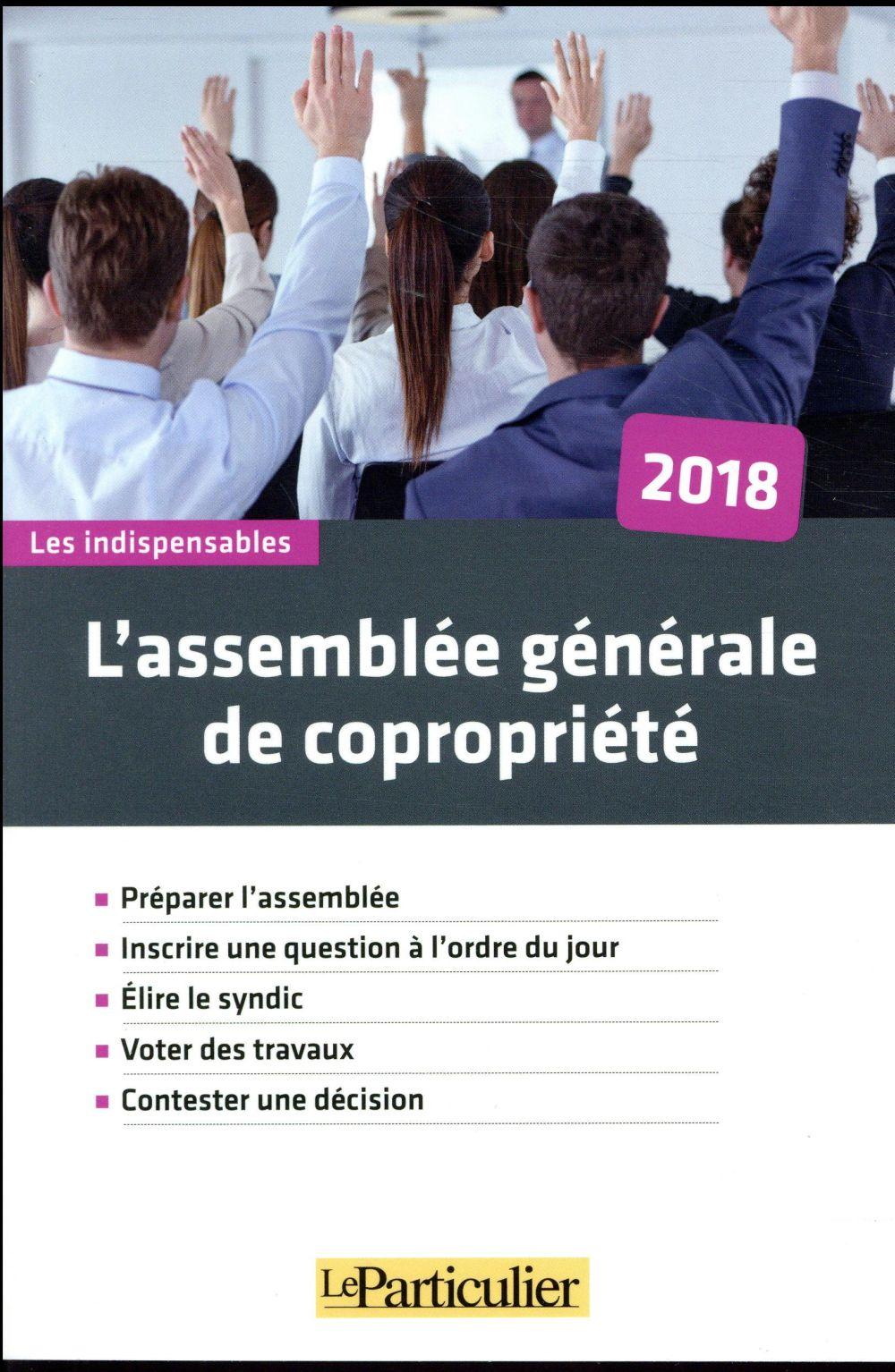 L ASSEMBLEE GENERALE DE COPROPRIETE 2018