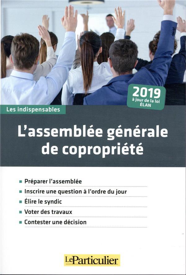 L ASSEMBLEE GENERALE DE COPROPRIETE 2019 - PREPARER L ASSEMBLEE  INSCRIRE UNE QUESTION A L ORDRE DU