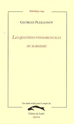LES QUESTIONS FONDAMENTALES DU MARXISME