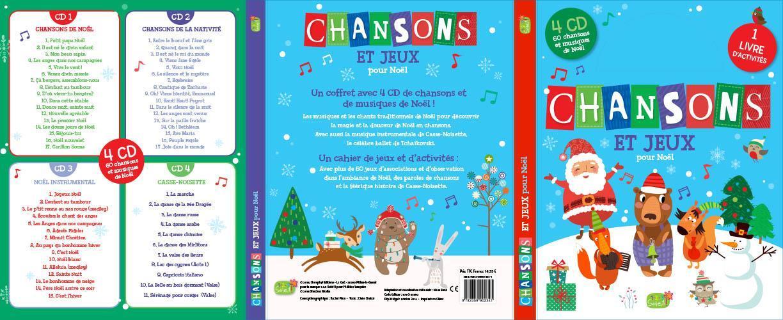 CHANSONS ET JEUX POUR NOEL + 4 CD AUDIO (60 CHANSONS)