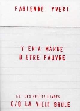 Y EN A MARRE D'ETRE PAUVRE