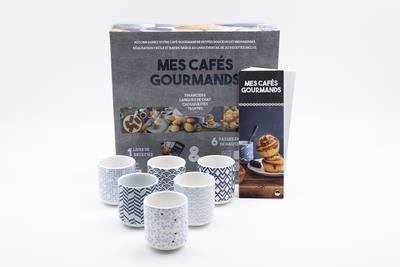 COFFRET BLEU CAFES GOURMANDS