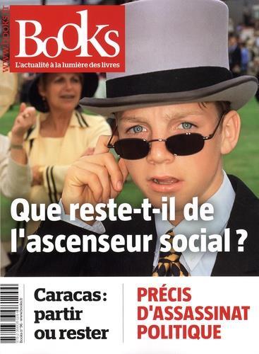 BOOKS N 96 AVRIL 2019 - QUE RESTE-T-IL DE L'ASCENSEUR SOCIAL ?