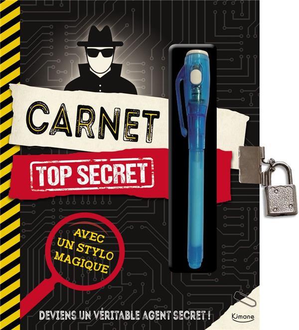 CARNET TOP SECRET (COLL. CARNET & PETITS PAPIERS) - AVEC UN STYLO A ENCRE INVISIBLE