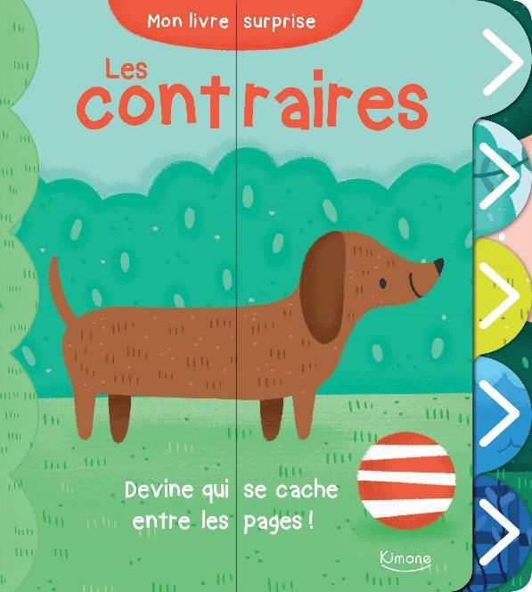 LES CONTRAIRES (COLL. MON LIVRE SURPRISE) - DEVINE QUI SE CACHE ENTRE LES PAGES !