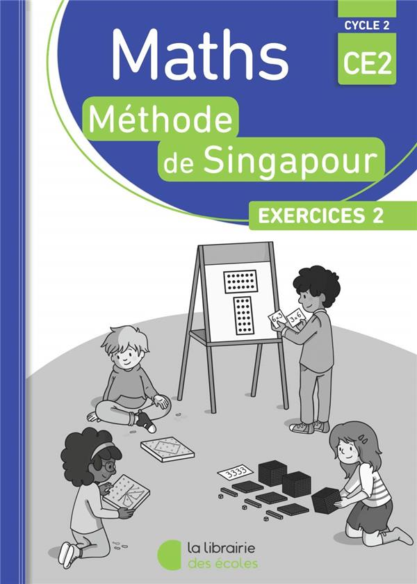 PACK SINGAPOUR 10 EX MATHS CE2 EXERCICES 2