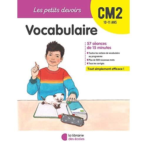 VOCABULAIRE CM2 10-11 ANS