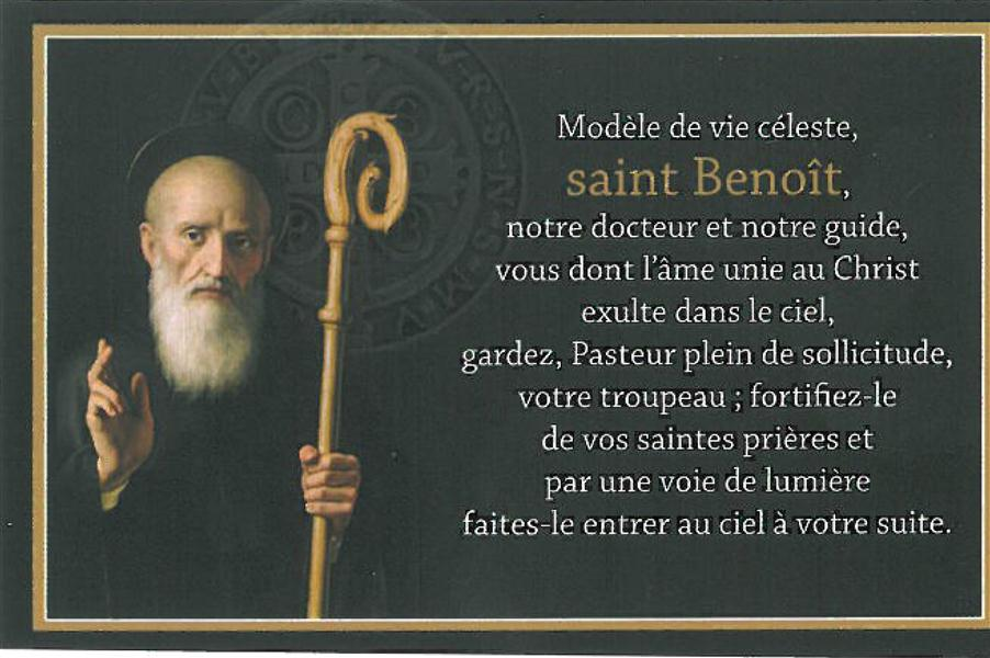 CARTE SAINT BENOIT (PAR LOT DE 20)