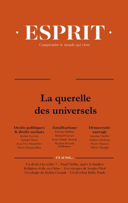 LE PARTAGE DE L'UNIVERSEL