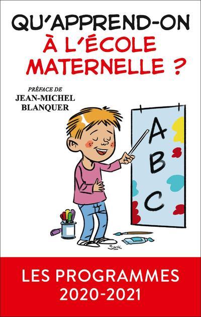 QU'APPREND-ON A L'ECOLE MATERNELLE ?
