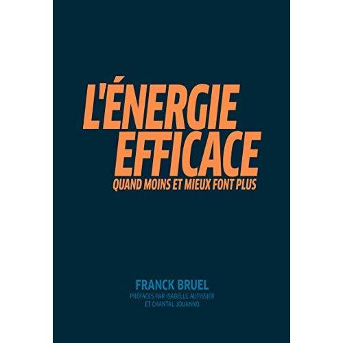 L ENERGIE EFFICACE - QUAND MOINS ET MIEUX FONT PLUS  PREFACES PAR ISABELLE AUTISSIER ET CHANTAL JOUA