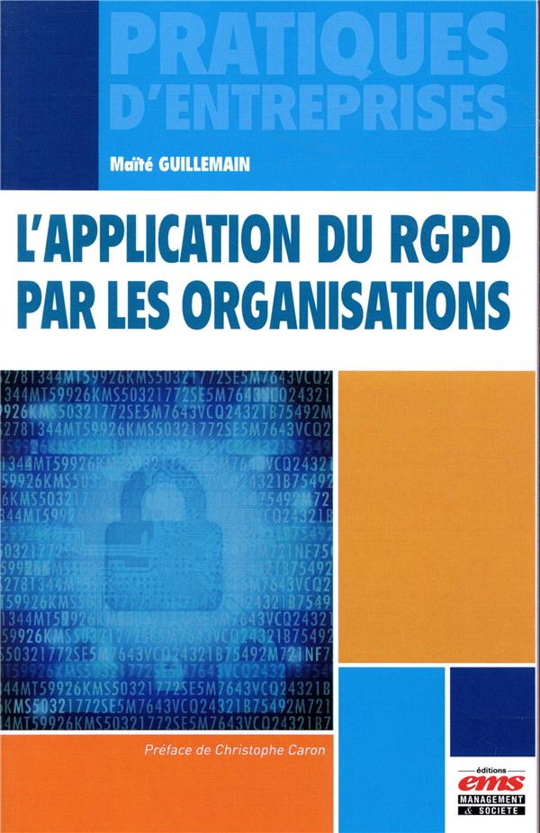 L APPLICATION DU RGPD PAR LES ORGANISATIONS