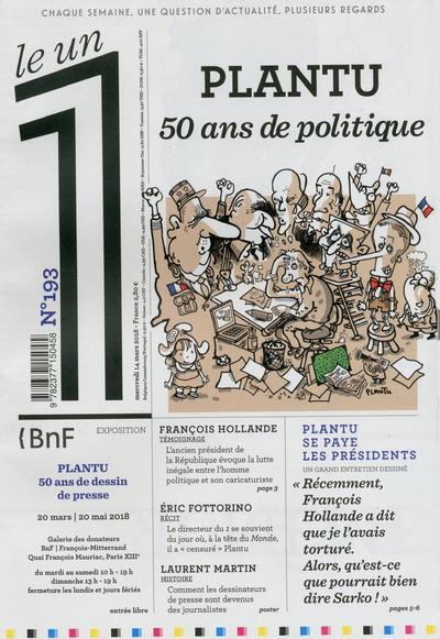 LE 1 NUMERO 193 PLANTU 50 ANS DE POLITIQUE