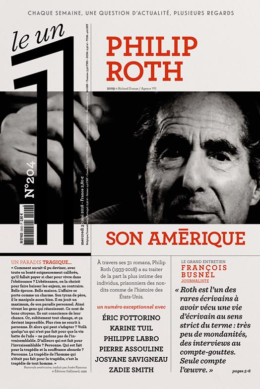 LE 1 NUMERO 204 PHILIP ROTH SON AMERIQUE