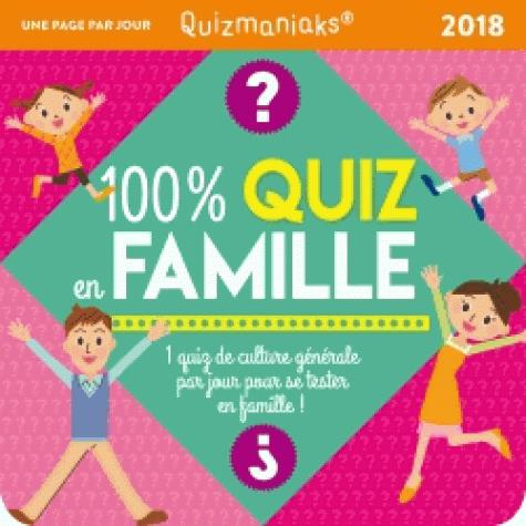 CALENDRIER - QUIZMANIAK 100% QUIZ EN FAMILLE 2018