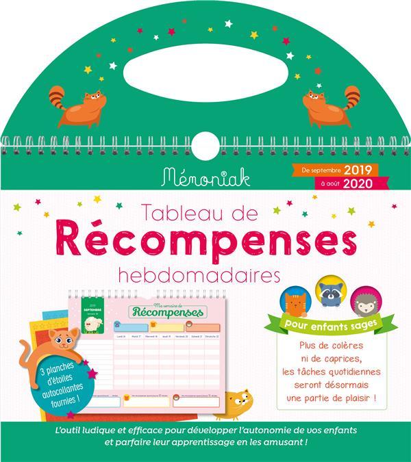 TABLEAU DE RECOMPENSES HEBDOMADAIRES MEMONIAK 2019-2020