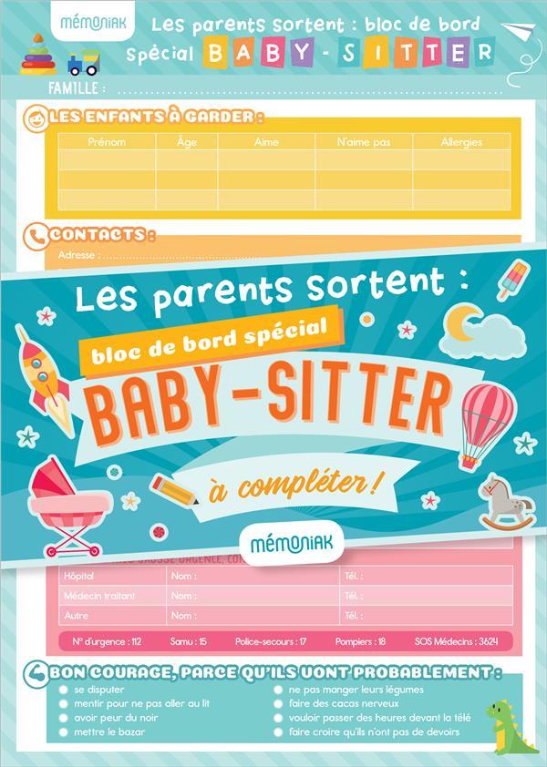 LES PARENTS SORTENT : BLOC DE BORD SPECIAL BABY-SITTER