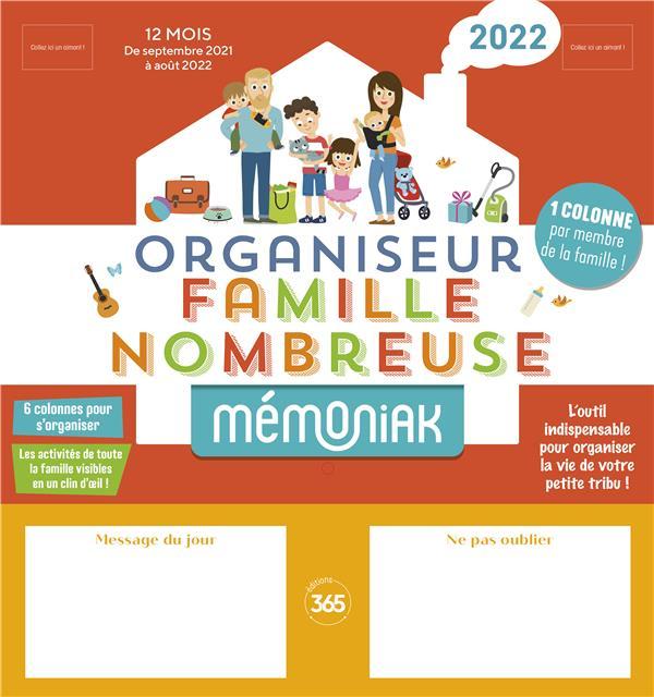 ORGANISEUR FAMILIAL MEMONIAK SPECIAL FAMILLE NOMBREUSE 2021-2022