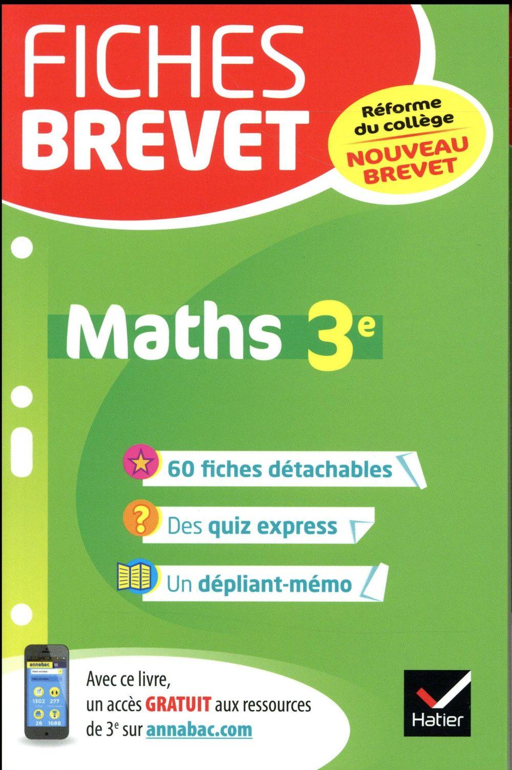 FICHES BREVET MATHS 3E